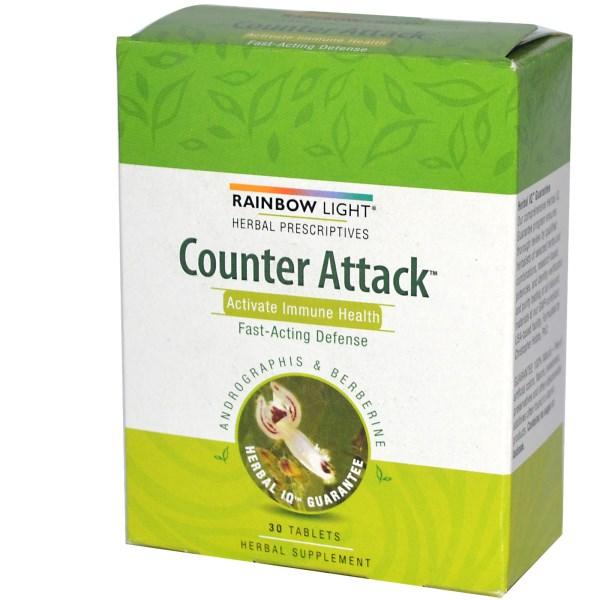 Rainbow Light, Herbal Prescriptives カウンターアタック アクティブイミューンヘルス 30錠