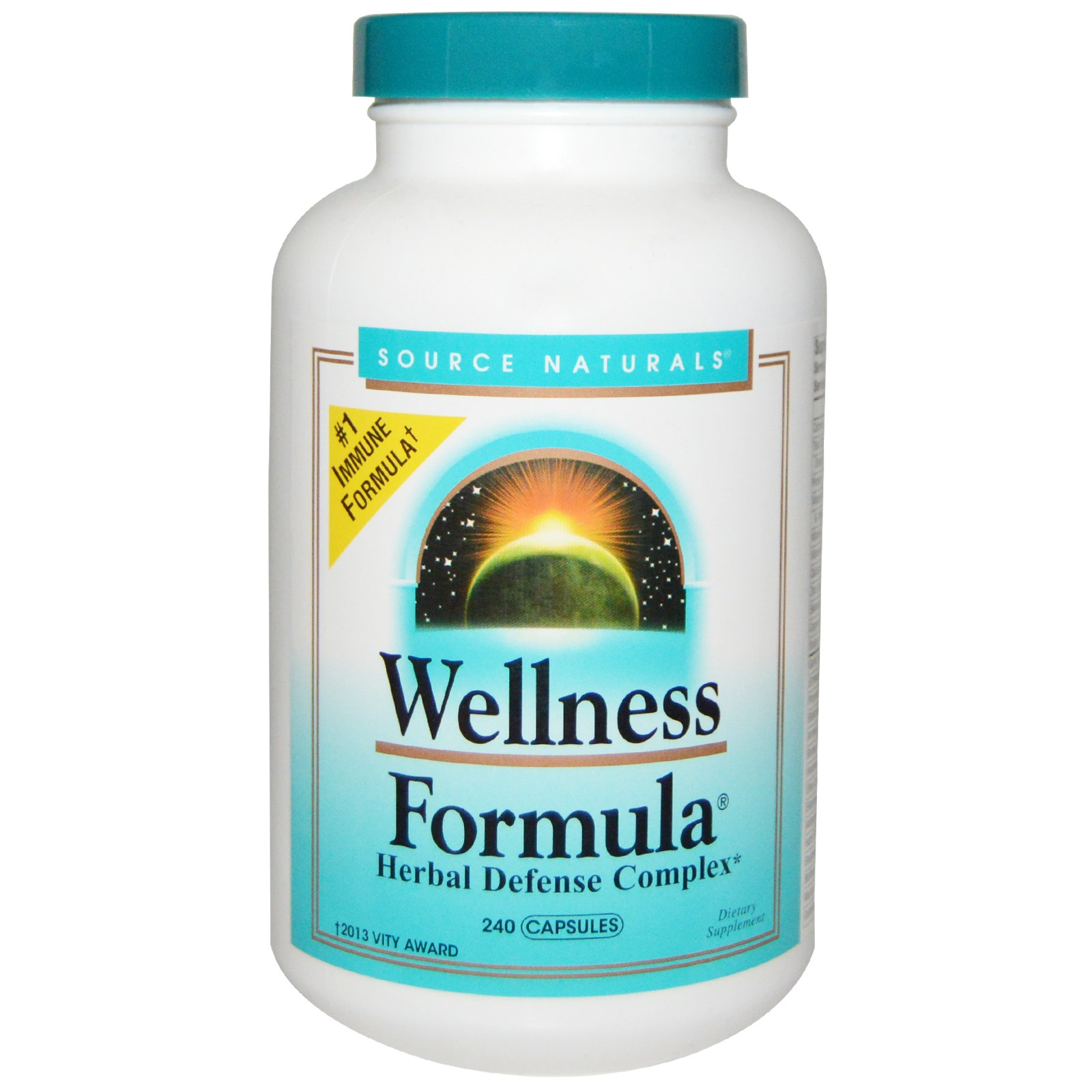 Source Naturals, Wellness(健康)のフォーミュラ, ハーブディフェンス複合体, 240カプセル