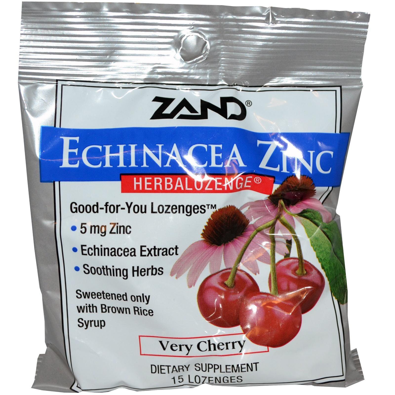 Zand, エキナセア亜鉛, Herbalozenge, サクランボ風, 15錠